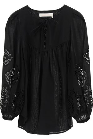 See by Chloé Women Blouses - BLOUSE WITH GUIPURE 34 Cotton