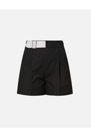 Evisu Women Belts - Partial Leather Buckle Belt Shorts