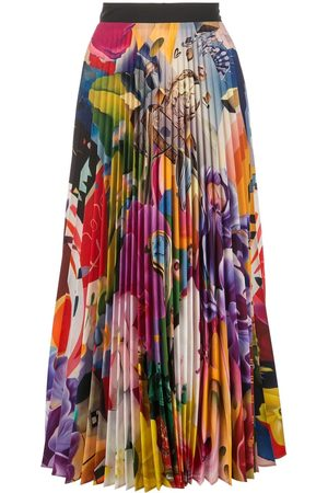Mary Katrantzou Women Pleated Skirts - Pleated midi skirt