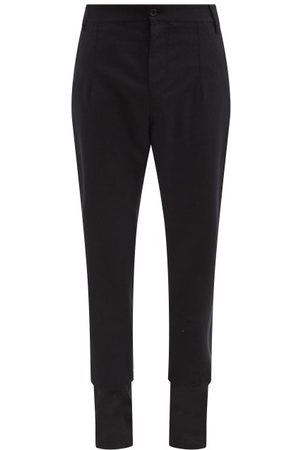 ANN DEMEULEMEESTER Panelled-cuff Cotton Trousers - Mens