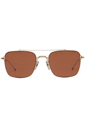 Thom Browne Men Sunglasses - Aviator Metal Sunglasses - Mens