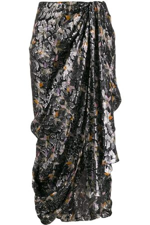 Isabel Marant Women Printed Skirts - Geometric print asymmetric skirt