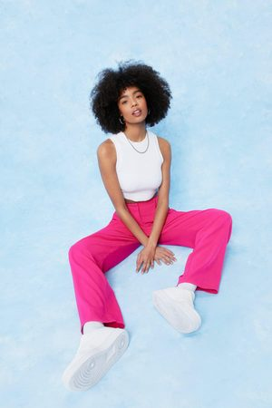 NASTY GAL Womens Tailored High Waisted Wide Leg Trousers