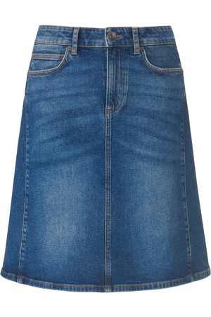 Peter Hahn Denim skirt in straight 5-pocket style denim size: 18s