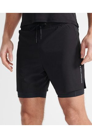 Superdry Men Sports Shorts - Sport Double Layer Short