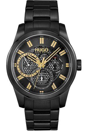 HUGO BOSS Men Watches - #Skeleton Black Dial And Black Bracelet Gents Watch