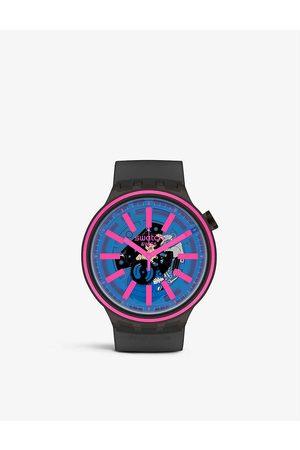 Swatch SO27B111 Taste silicone quartz watch