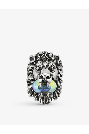 Gucci Lion Head Swarovski-crystal ring