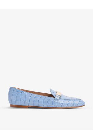 LK Bennett Primrose metal-bar leather loafers
