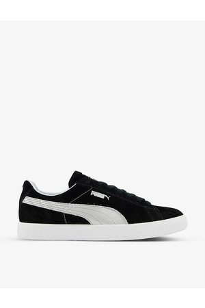 PUMA Vintage Made In Japan metallic-embroidered suede low-top trainers