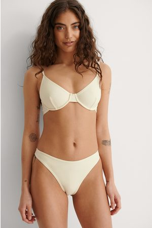 NA-KD Recycled High Cut Bikini Panty - Offwhite