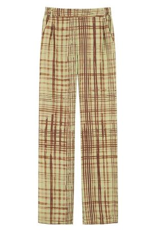 MOMONÍ Women Trousers - Cagliari trousers in printed twill