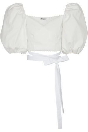Miu Miu Cropped cotton blouse