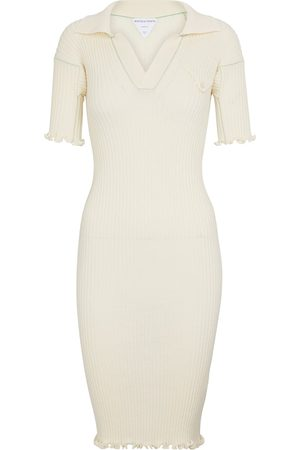 Bottega Veneta Ribbed-knit wool minidress