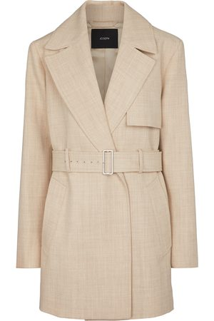 Joseph Women Summer Jackets - Chasy belted wool twill jacket