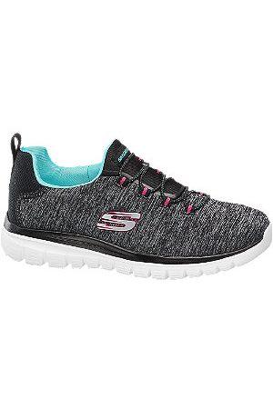Skechers Women Trainers - Ladies Grey Slip-on Trainers