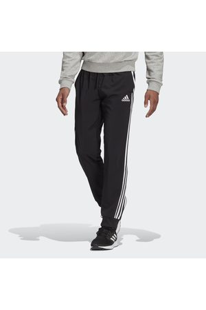 adidas Men Sports Trousers - AEROREADY Essentials Tapered Cuff Woven 3-Stripes Tracksuit Bottoms