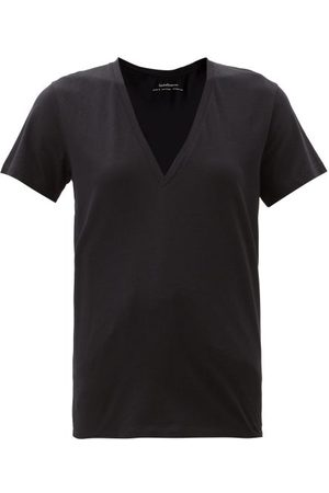 Another Tomorrow V-neck Organic-cotton T-shirt - Womens