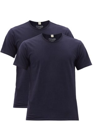 Lady White Co. Men T-shirts - Our Pack Of Two Cotton-jersey T-shirts - Mens - Navy