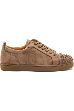 Christian Louboutin Louis Junior Spike-embellished Suede Trainers - Mens