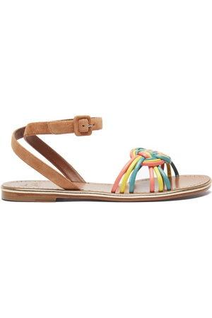 Christian Louboutin Women Sandals - Ella Braided Leather Flat Sandals - Womens - Multi