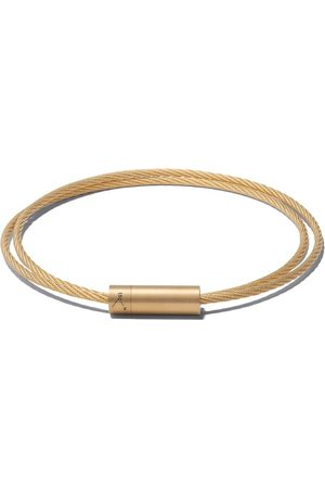Le Gramme 18kt brushed yellow Le 15 Grammes Double Cable bracelet