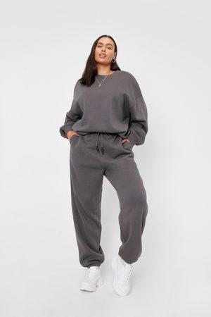 NASTY GAL Womens Plus Size Drawstring Waist Oversized Joggers