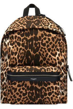 Saint Laurent Men Rucksacks - Leopard City Backpack