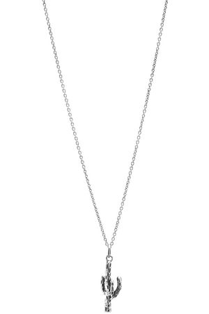 Saint Laurent Cactus Pendant Necklace