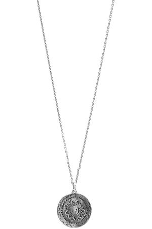 Saint Laurent Medallion Pendant Necklace