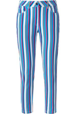 Looxent Women Jeans - Ankle-length jeans stripes multicoloured size: 10