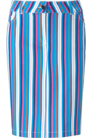 Looxent Women Straight - Straight 5-pocket style skirt multicoloured size: 10