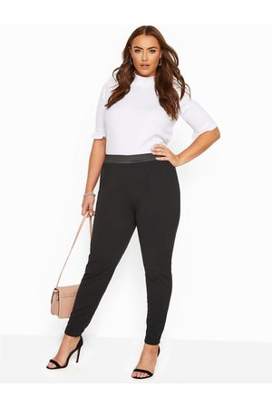 Yours London Scuba Crepe Formal Tapered Trouser