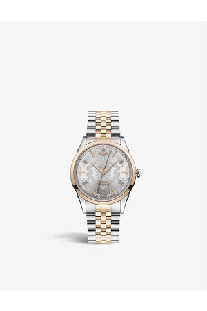 Vivienne Westwood Watches VV208RSSL Wallace two-tone stainless-steel and Swarovski crystal quartz watch