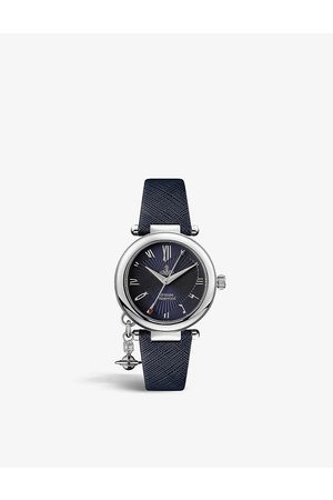 Vivienne Westwood Watches VV006 Orb Heart stainless-steel and leather quartz watch