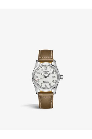 Longines L3.811.4.73.2 Spirit stainless-steel and leather automatic watch