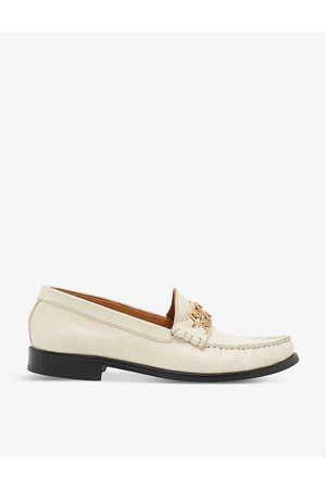 Sandro Max chain-trim leather loafers
