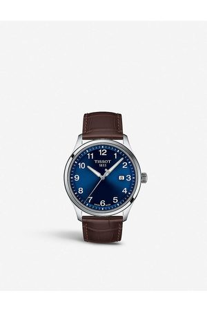 Tissot T1164101604700 XL stainless steel and leather watch