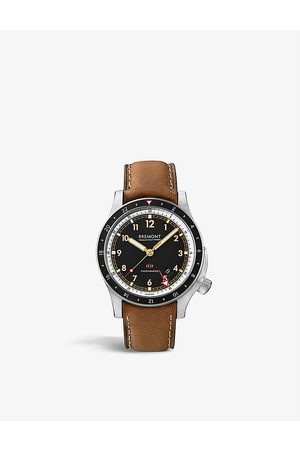 Bremont 17190212 Ionbird stainless steel and leather watch