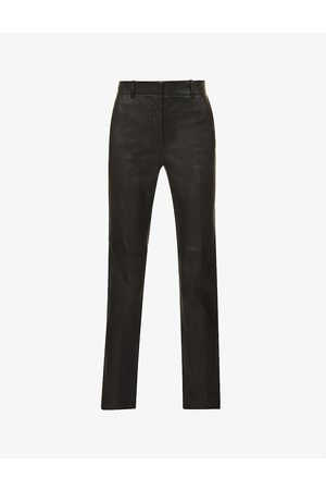 Joseph Coleman high-rise leather trousers