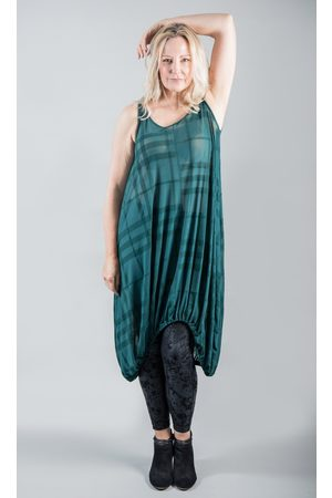 Elsewhere Clothing ELSEWHERE SLEEVELESS DRESS MESH PETROL