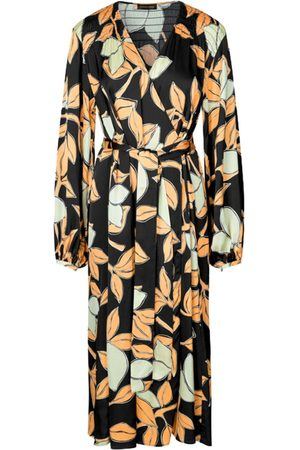 STINE GOYA Sebie Wrap Dress - Lemons SUSTAINABLE