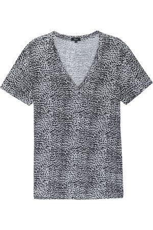 Rails Women T-shirts - Cara V Neck T Shirt - Heather Lynx