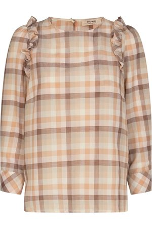 Mos Mosh Gurit Check Blouse Toasted Coconut
