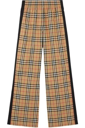 Burberry Vintage Check Side-Stripe Trousers