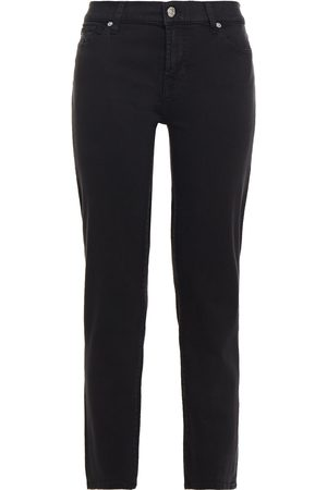 7 for all Mankind Women Slim - Woman Cropped High-rise Slim-leg Jeans Size 31