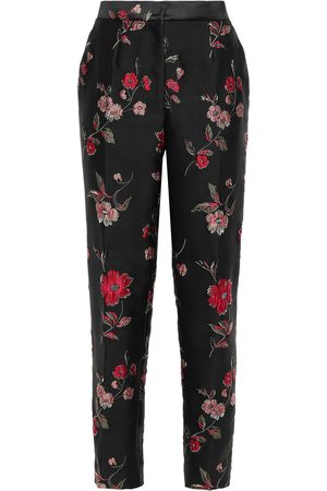 Dolce & Gabbana Women Trousers - Woman Floral-jacquard Tapered Pants Size 44
