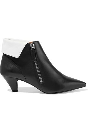 TABITHA SIMMONS Women Ankle Boots - Woman + Equipment Chrissie Two-tone Leather Ankle Boots Size 35.5