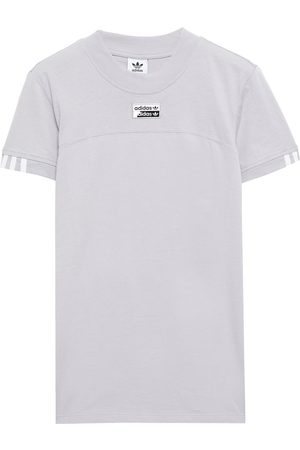 adidas Woman Printed Cotton-jersey T-shirt Stone Size 28