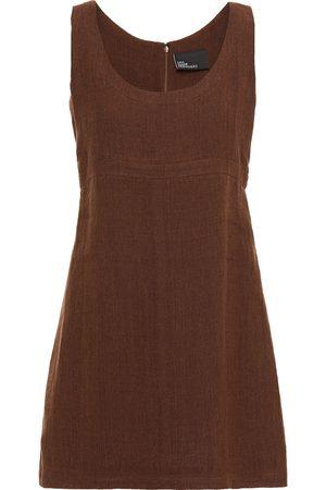 Lisa Marie Fernandez Women Dresses - Woman Zani Linen-blend Gauze Mini Dress Chocolate Size 0